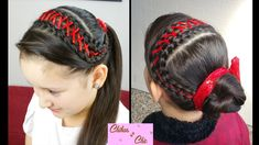 In this video I'm going to show you how to do an amazing headband! It is a corset braid! Childrens Hairstyles, Braided Hairstyles Tutorials, Little Girl Hairstyles, Trendy Hairstyles, Hairstyle Ideas, Ribbon Hairstyle, Ribbon Braids, Braids For Long Hair, Braid Hair