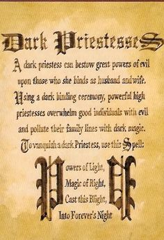 """Book of Shadows """"Dark Priestesses"""" - Charmed Spells, Charmed Book Of Shadows, Witchcraft Spells For Beginners, Magick Spells, Witchcraft Books, Power Of Evil, Wiccan Spell Book, Witch Spell, Halloween Spells"""