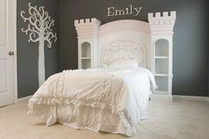 20 Amazing Princess Castle Bedroom Design Ideas For Girls Princess Castle Bed, Princess Room, Princess Theme, Castle Bedroom, Little Girl Rooms, Dream Rooms, Kid Beds, New Room, Girls Bedroom