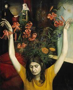 Nazarenko, Tatyana   self portrait with flowers