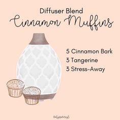Essential Oil Diffuser Benefits, Essential Oils Guide, Essential Oil Scents, Doterra Essential Oils, Young Living Oils, Young Living Essential Oils, Stress, Yl Oils, Cinnamon Muffins