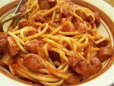 Spaghetti Thru Hot Dogs
