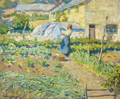 Helen McNicoll, A Welcome Breeze, c. 1909, oil on canvas, 50.8 x 61 cm, private collection. #ArtCanInstitute #CanadianArt