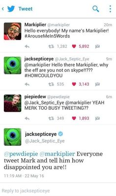does markiplier like jacksepticeye Pewdiepie, Jacksepticeye Memes, Amazingphil, Youtube Memes, Darkiplier, Jack And Mark, Septiplier, Best Youtubers, Dan And Phil