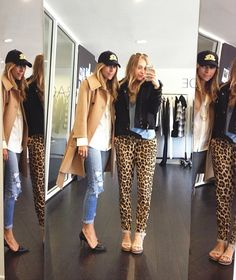 Ballcaps // Trench Coats // Leopard pants