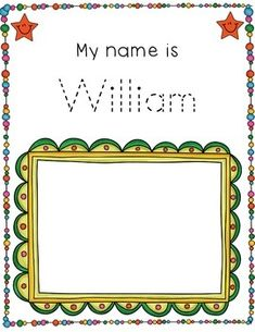 EDITABLE Name Tracing and Self Portrait Activity by Seaside Spanish