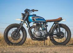"""On BikeBound.com: """"Blue"""" 1974 CB360 #scrambler by @robertsperformancegroup Link in Profile"""