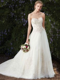 Wedding Dress 2276 Ambrosia by Casablanca Bridal - Search our photo gallery for pictures of wedding dresses by Casablanca Bridal. Find the perfect dress with recent Casablanca Bridal photos. Wedding Dress Necklines, Bridal Wedding Dresses, Wedding Dress Styles, Designer Wedding Dresses, Bridal Style, 2017 Bridal, Bridal Outfits, Wedding Gown Gallery, Bridal Gallery