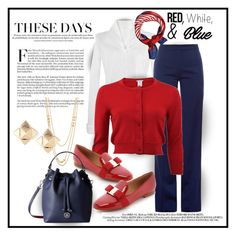 """""""Three Colors...Red, White, and Blue"""" by onesweetthing on Polyvore featuring Anne Fontaine, Altuzarra, Oscar de la Renta, Salvatore Ferragamo, Tommy Hilfiger, Gorjana and Valentino"""