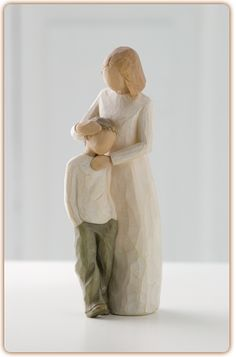 Who can describe the unique love of mother and son. shown here in Susan Lordi's Willow Tree ® keepsake figurine Mother and Son; Celebrating the bond of love between mothers and sons. Willow Tree ® Mother and Son by Susan Lordi