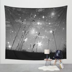 Only the stars and me  Wall Tapestry Indoor Outdoor by MGMart
