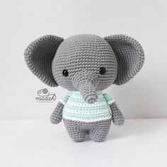 Amigurumi toy models, you can find all the amigurumi animal crochet toy patterns on our website.Amigurumi related to all kinds of free models. Crochet Elephant Pattern, Animal Knitting Patterns, Crochet Amigurumi Free Patterns, Stuffed Animal Patterns, Crochet Dolls, Love Crochet, Crochet Baby, Knit Crochet, Cute Elephant