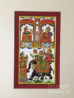 Festive Procession Phad Painting I by The Kaarigars Indian Traditional Paintings, Indian Paintings, Phad Painting, Indian Folk Art, Madhubani Painting, Creative Sketches, Mural Art, Textile Patterns, Ancient Art