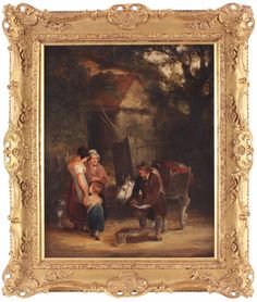William Shayer Snr Antique Oil Painting Figures Horse Country Genre Signed Art Paintings, Horses, Oil, Country, Antiques, Modern, Ebay, Antiquities, Antique