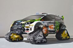 Check out the new custom R/C car HPI gave Ken Block. Automobile, Rc Autos, Ken Block, Rc Cars And Trucks, Rc Crawler, Remote Control Cars, Rally Car, Hot Cars, Cool Toys