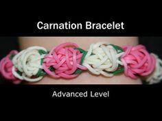 Rainbow Loom® Carnation Bracelet - http://rainbowloomsale.com/rainbow-loom-carnation-bracelet/
