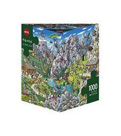 Puzzle 1000 CARTOON (τρίγωνο κουτί) Tanck - Άλπεις