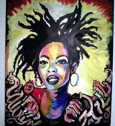 Lauryn Hill Acrylic on Board by Nezifah Momodou http://nezimomodu.com/ http://aboveignorance.tumblr.com/ https://instagram.com/theafricanartist/ https://twitter.com/nezifah https://soundcloud.com/nezi-momodu https://youtube.com/channel/UCe0nBnh5cPYFfKw5XF8Kcrg Nezifah.momodu@ttu.edu