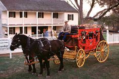 Fanthorp Inn - Anderson, TX (that's about 30 miles south of College Station) - in the spring and summer (once a month) visitors can take a ride in an actual stagecoach - if you're looking for an authentic western experience, this is it!