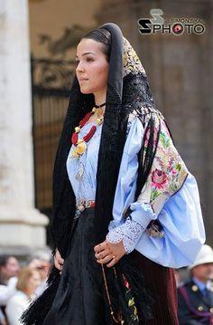 From Oliena, Sardinia traditional dress