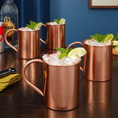 If you're looking for a new way to serve cocktails and mixed drinks with flare, then our Nikolay copper mugs are just what you need.