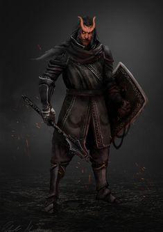 Hellbred Character commission, Robert Mallinson on ArtStation at https://www.artstation.com/artwork/43Bl1
