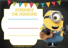 Awesome UPDATED! Bunch Of Minion Birthday Party Invitations Ideas - FREE Downloadable