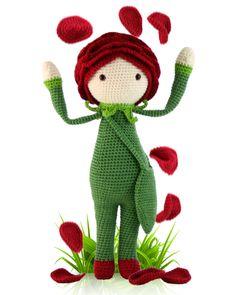 Амигуруми: Роза. Бесплатная схема для вязания игрушки. FREE amigurumi pattern…