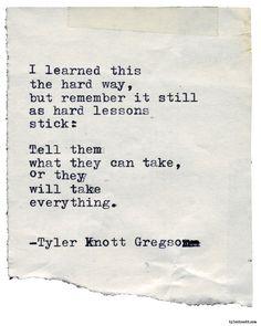 Typewriter Series #2237 by Tyler Knott Gregson