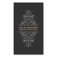 226 best fashion designer business cards images on pinterest in 2018 formal interior designer ornate swirl motif black business card templates colourmoves