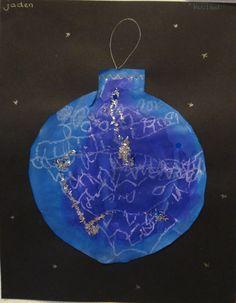 Knutselen: kerstboom Christmas Bulbs, Bullet Journal, Holiday Decor, School, Christmas Light Bulbs