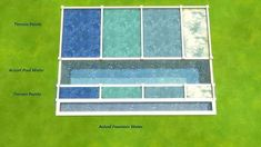 Mod The Sims - Water Unbound I - Pool Water Terrain Paints