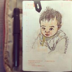 Jan 13th,2014. just woke up in a sleeping bag #SteveJournal2014 #BabyJournal #ほぼ日手帳 #Hobonichi #手帳 #FountainPen