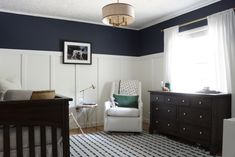 Clic Navy Blue Nursery Baby Furniture Decor Project