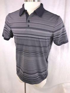 2d92702f2016b8 Lululemon Shirt Short Sleeve Yoga Workout Black Gray L Golf Casual polo  tennis #fashion #