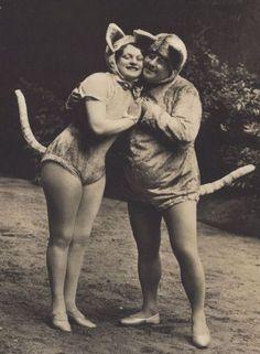 """Vaudeville """"Cats""""  1920s postcards"""