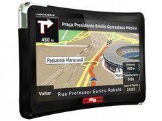 """GPS Automotivo Quadro Rodas Aquarius Tela 5"""" - Touch Screen com TV Digital Alerta de Velocidade com as melhores condições você encontra no Magazine 233435antonio. Confira!"""