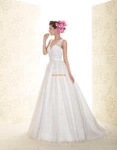 A-vonalú Elegáns és luxus Rátétek Menyasszonyi ruhák 2015