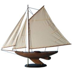 Wooden Lakeview Sloop Model Decoration 40 inch