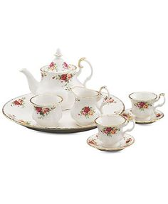 Royal Albert Serveware, Old Country Roses 9 Piece Mini Tea Set.... I want to get our daughter this set, it's a mini version of the one I have. Perfect for the tea parties we will have!