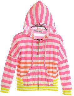 RECALLED.... Strangulation Hazard........  Girl's Lightweight Striped Hoodie