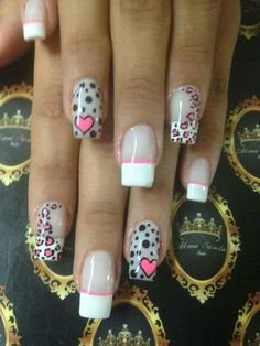 The 90 Vigorous Early Spring Nails Art Designs are so perfect for this Season Hope they can inspire you and read the article to get the gallery. Nails Only, Love Nails, Pink Nails, Gel Nails, Colorful Nail Designs, Diy Nail Designs, Zebra Print Nails, Valentine Nail Art, Acrylic Nail Shapes