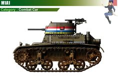 M1A1 Combat Car Military Photos, Military Art, Military History, Tank Armor, Tank Destroyer, Engin, Tank Design, Ww2 Tanks, Lifted Ford Trucks