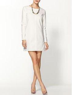 Tibi Ponte Shift Dress - White hot spring!