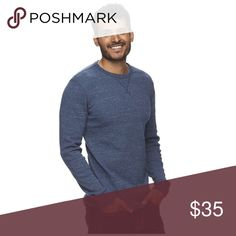 Heathered thermal tee Product Details No matter the day, this men's SONOMA Goods For Life thermal tee is always a good choice.  PRODUCT FEATURES Heat retention for added warmth Soft touch fabric blend Heathered finish Crewneck Long sleeves FABRIC & CARE Cotton, polyester Machine wash Shirts
