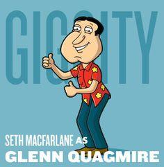 Ah Family Guy.endless one-liner non-PC jokes and random tangental plot twists. Glenn Quagmire, Seth Macfarlane, Tv Shows Funny, American Dad, Plot Twist, One Liner, Man Photo, The Simpsons, I Laughed