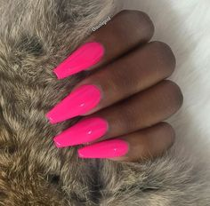 Have you discovered your nails lack of some fashionable nail art? Yes, recently, many girls personalize their nails with lovely … Neon Pink Nails, Pink Acrylic Nails, Cute Pink Nails, Matte Nails, Black Nails, Dope Nails, Swag Nails, Hair And Nails, My Nails