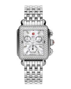Spotted this Michele Women's Signature Diamond Deco Watch on Rue La La. Shop (quickly!).
