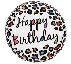 Happy Birthday Animals, Happy Birthday 18th, Happy Birthday Parties, Birthday Fun, Helium Balloons, Foil Balloons, Cheetah Birthday, Filling Balloons, Leopard Spots