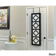 InnerSpace Wall-hang Jewelry Armoire with Decorative Mirrored Front